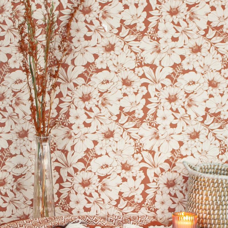 behangpapier met bloemenprint