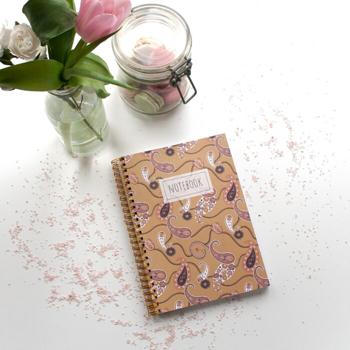 notebook a5 paisley