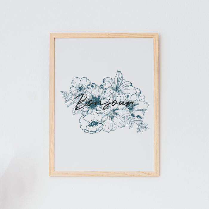 art print bloemen