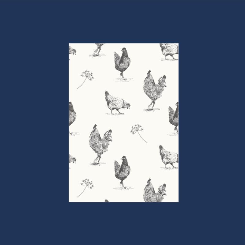Schriftjes met kippen