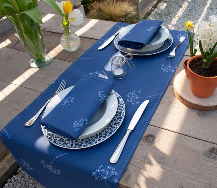 tafelloper dille blauw