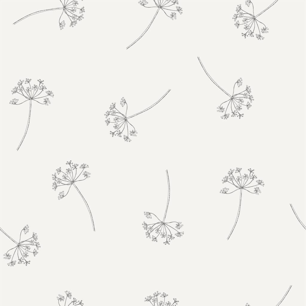 Behang botanische print