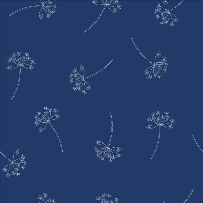 Blauw behang