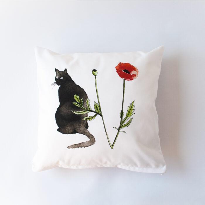 Sierkussens cats en poppies
