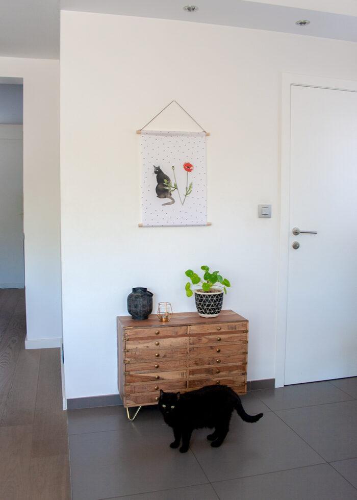 Textielposter cats en poppies Mimi