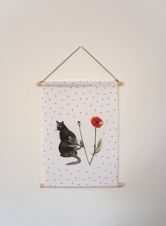 Muurdecoratie cats en poppies