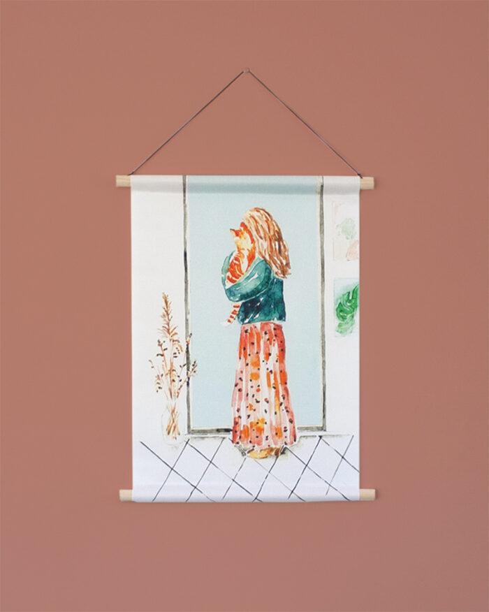 Woonkamer inspiratie textielposter